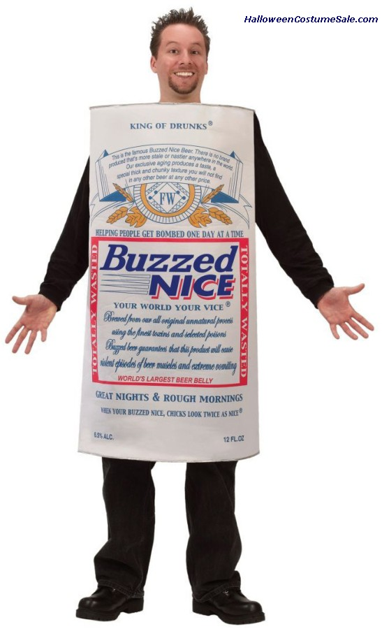 BUZZED NICE BEER ADULT COSTUME