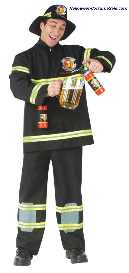 Fill Er Up Fireman Adult Costume - Plus Size