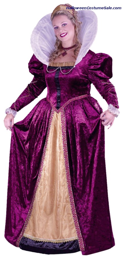 ELIZABETHAN QUEEN, PLUS SZ COSTUME