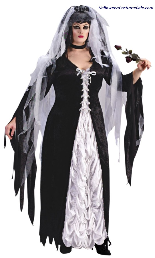 BRIDE OF DARKNESS ADULT COSTUME - PLUS SIZE