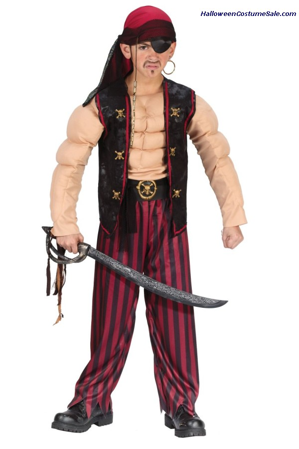 MUSCLE PIRATE CHILD COSTUME