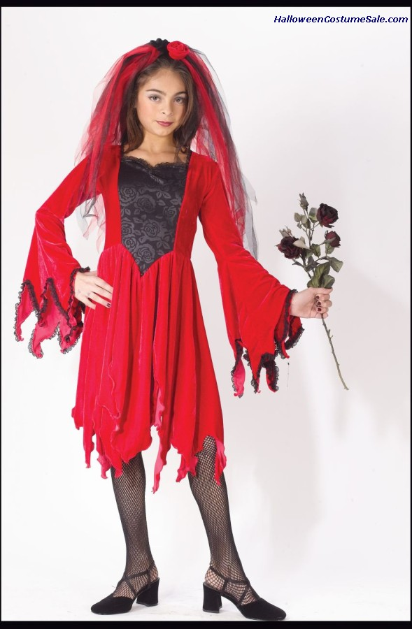 DEVIL BRIDE CHILD COSTUME