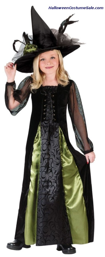 GOTHIC MAIDEN WITCH CHILD COSTUME