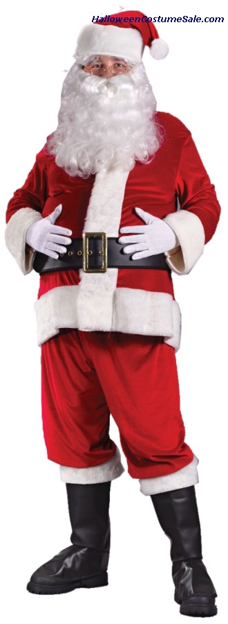 RICH VELVET SANTA ADULT COSTUME
