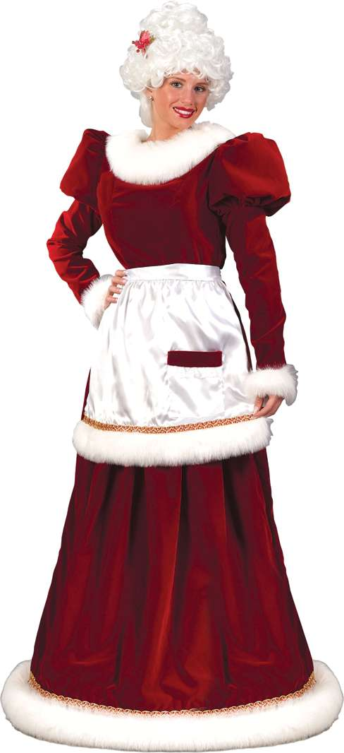 MRS SANTA VELVET DRESS PLUS SIZE