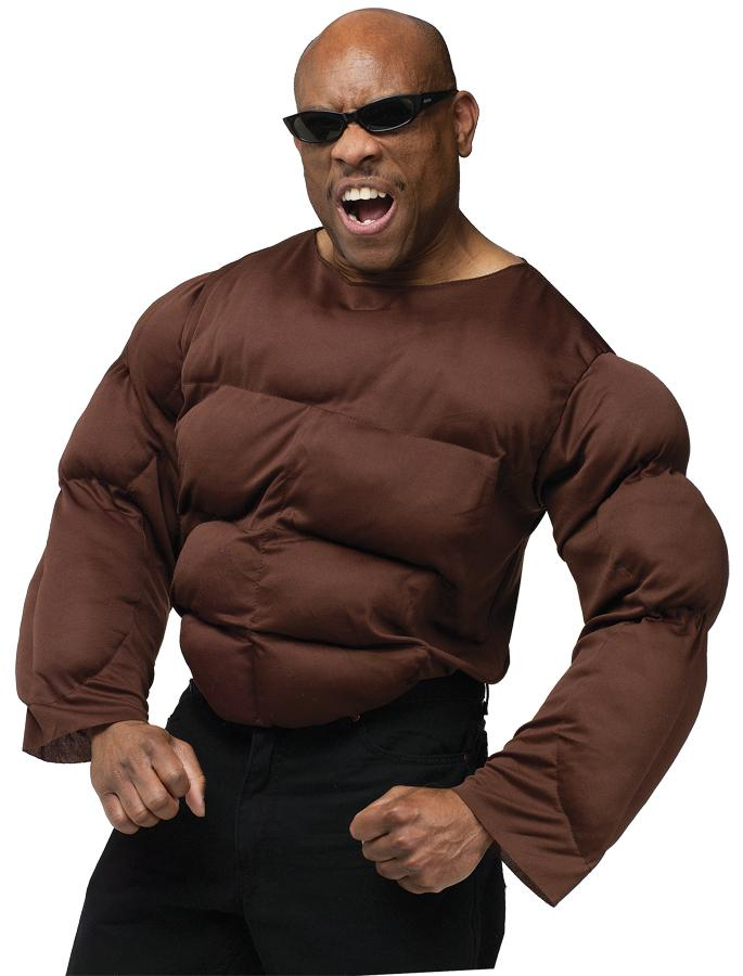 MUSCLE CHEST AFRICAN AMERICAN ADULT COSTUME