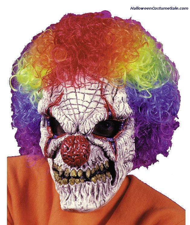 CLOWN MASK W/WIG