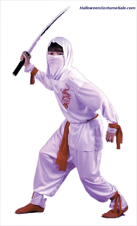 DELUXE WHITE NINJA CHILD COSTUME