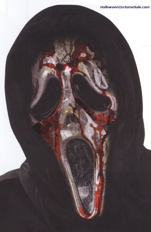Bleeding Ghost Face Zombie Mask
