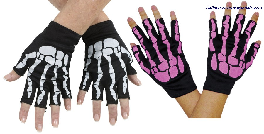 BONE FINGERLESS GLOVES - CHILD