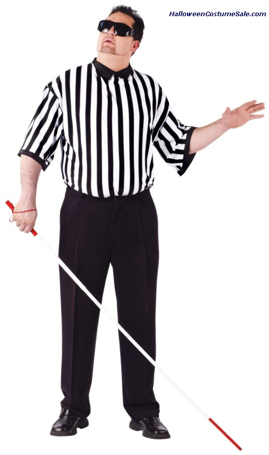 Blind Referee Adult Costume - Plus Size