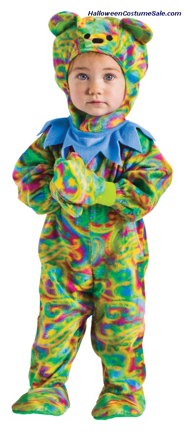 TIE DYE BEAR JUMPSUIT CHILD COSTUME