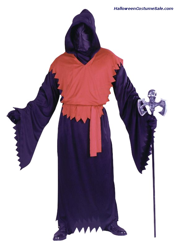 EVIL GHOUL DELUXE ROBE, RED