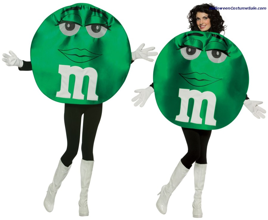 M&MS GREEN DELUXE ADULT COSTUME