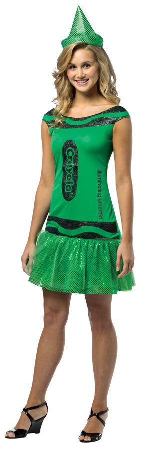 CRAYOLA ILL EMERALD ADULT COSTUME