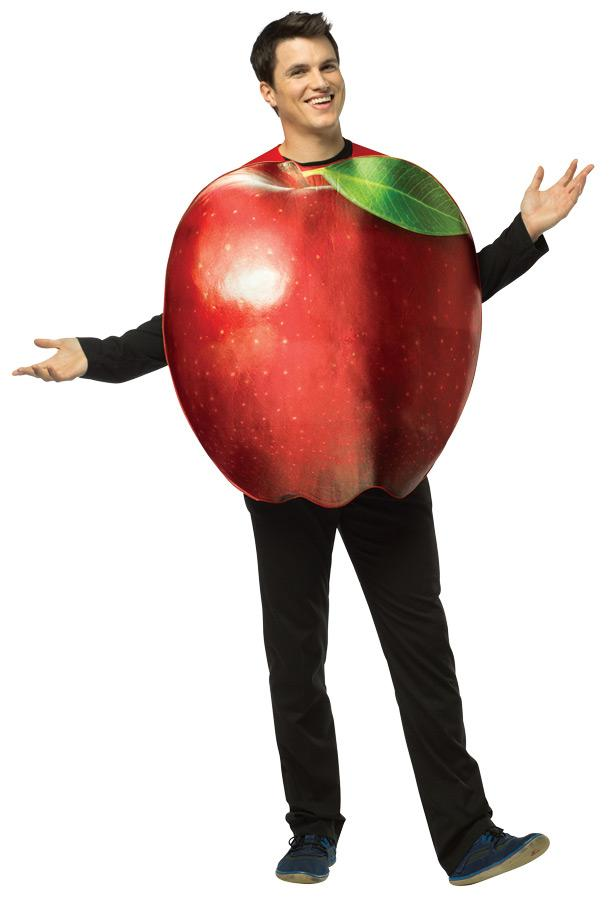 GET REAL APPLE ADULT COSTUME