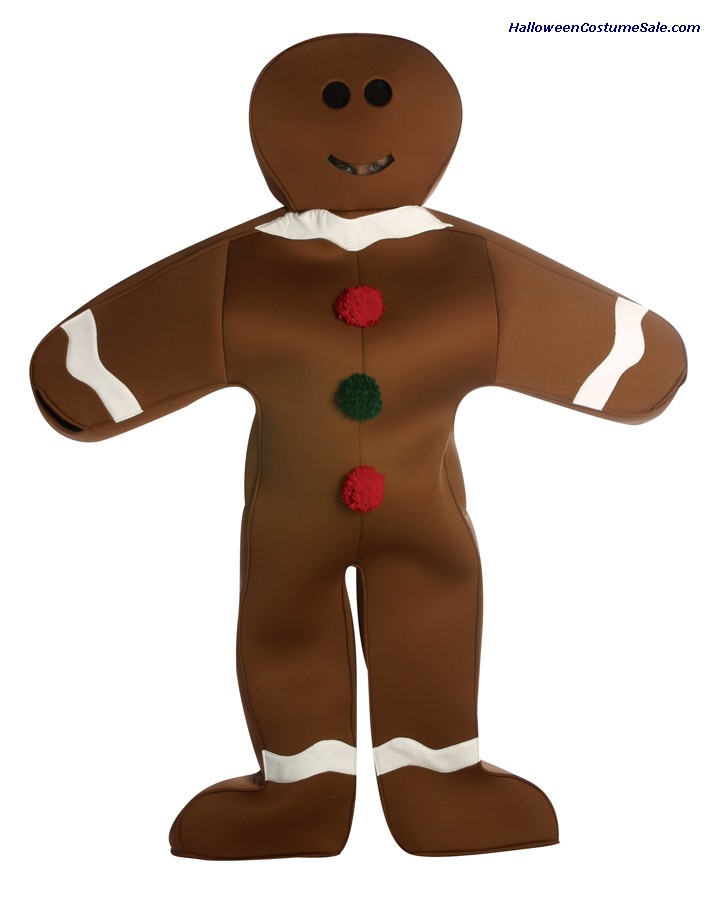 GINGERBREAD MAN ADULT COSTUME