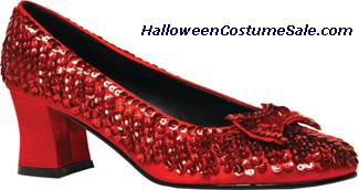RED SEQUIN SHOE WOMAN