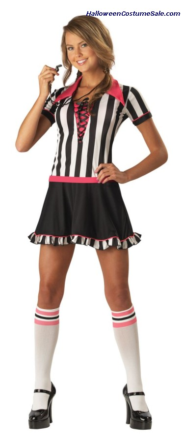 RACY REFEREE TEEN COSTUME