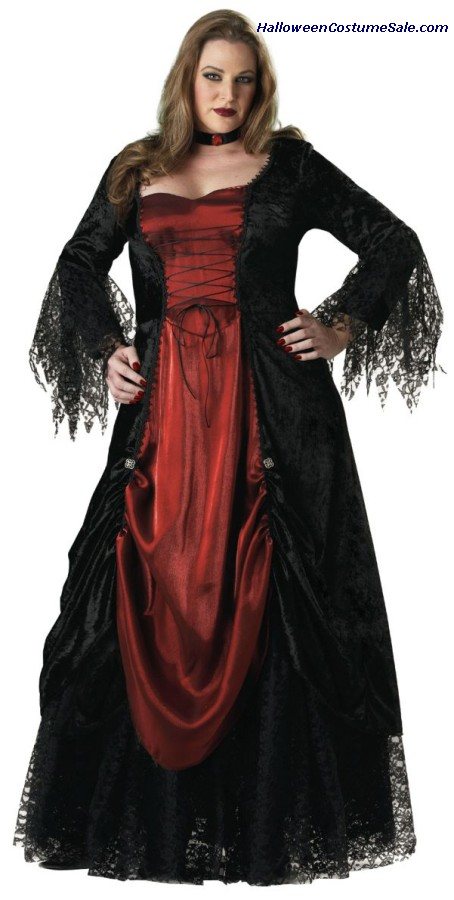 GOTHIC VAMPIRA ADULT COSTUME - PLUS SIZE