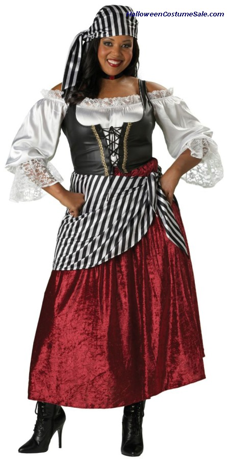 PIRATES WENCH ADULT COSTUME - PLUS SIZE