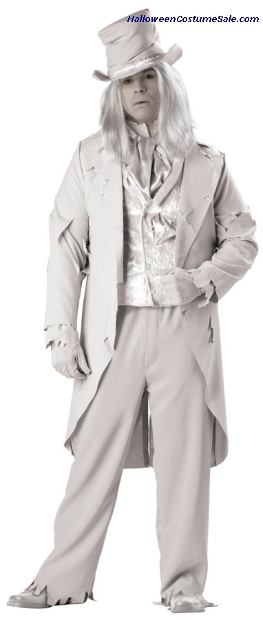 Ghostly Gent Adult Costume - Plus Size