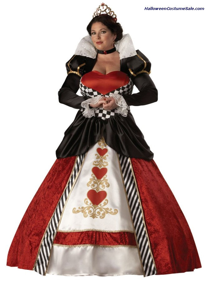 QUEEN OF HEARTS ADULT COSTUME - PLUS SIZE