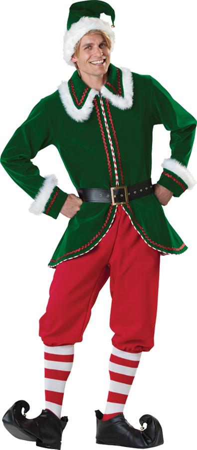 SANTAS ELF PLUS SIZE ADULT COSTUME