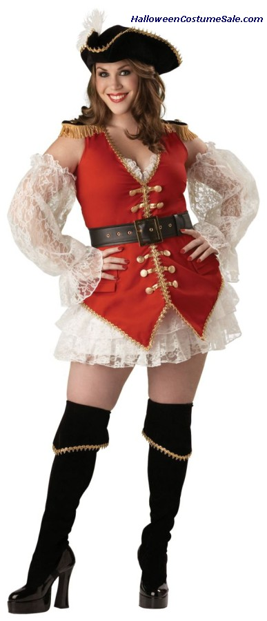 PIRATE TREASURE ADULT COSTUME - PLUS SIZE