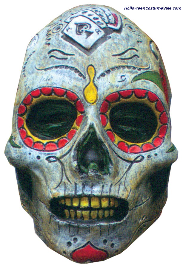 DAY OF THE DEAD ZOMBIE ADULT LATEX MASK
