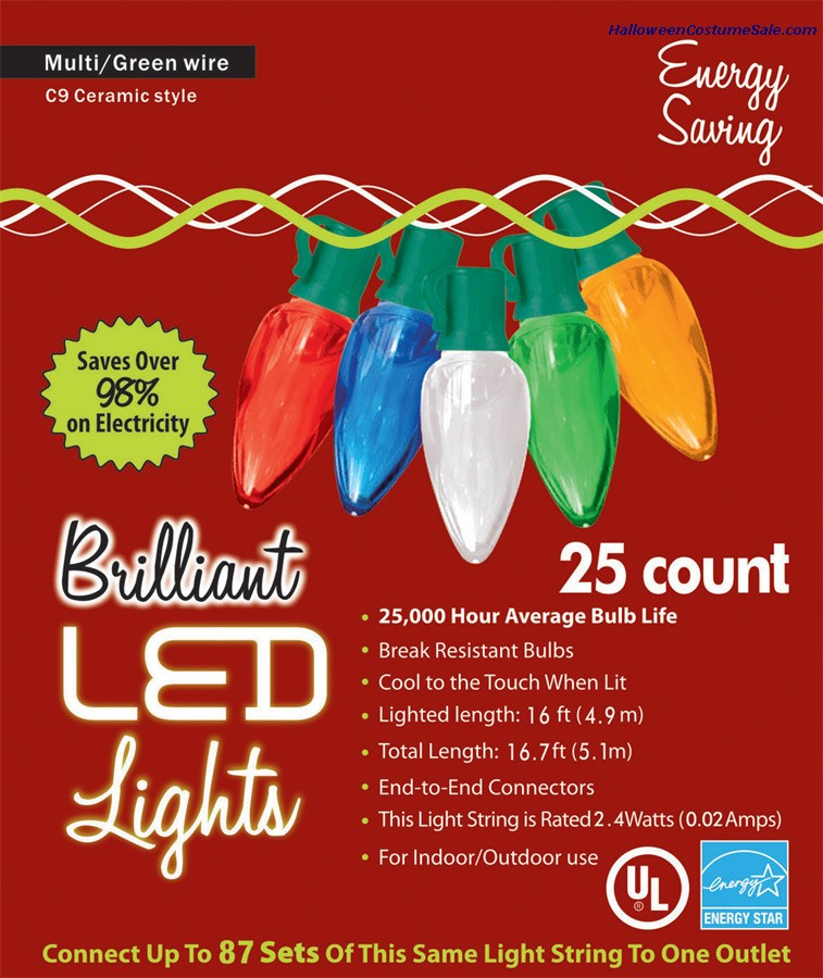 C9 CERAMIC HOLIDAY LIGHTS