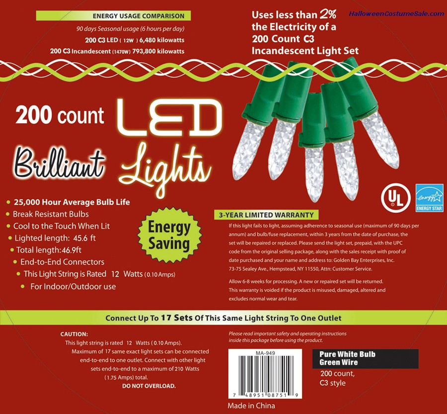 200L C3 PURE WHITE HOLIDAY LIGHTS