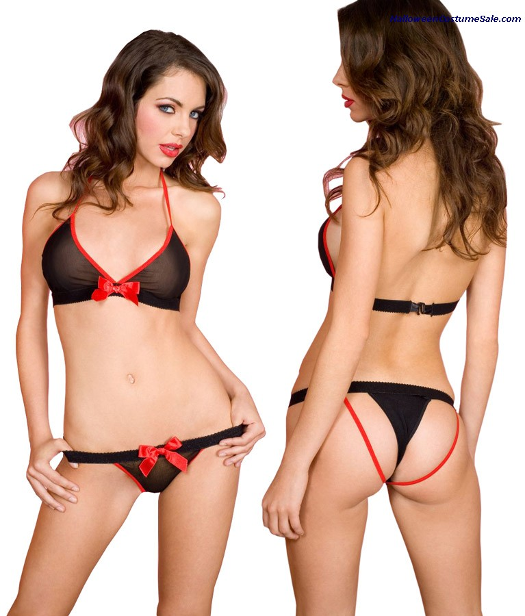 HALTER TOP 2TONE WITH THONG