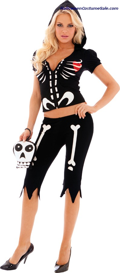 CHLOE BONES GLOW IN DARK ADULT COSTUME