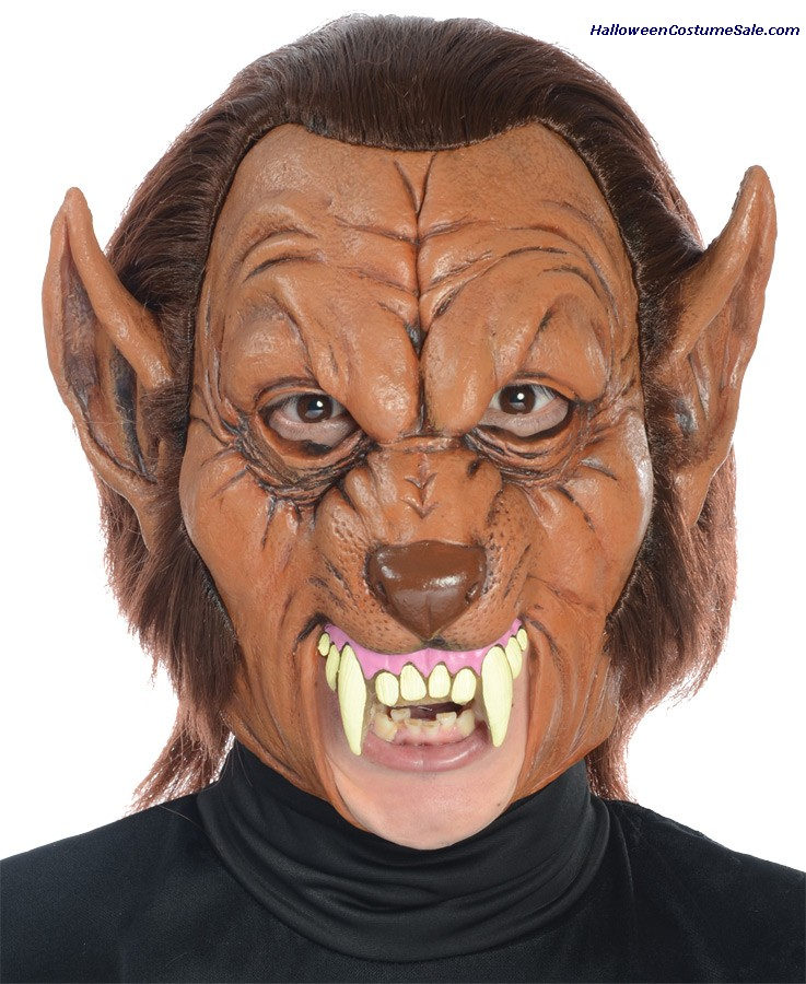 WEREWOLF 3/4 ADULT LATEX MASK