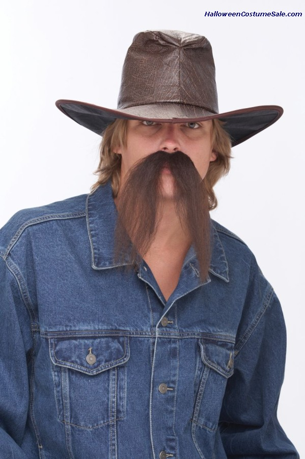 The Western Mustache- Brown