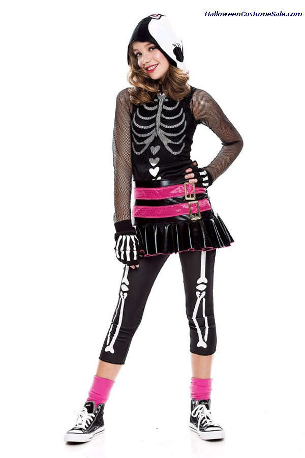 DRAMARAMA SKELEHEARTED CHILD COSTUME
