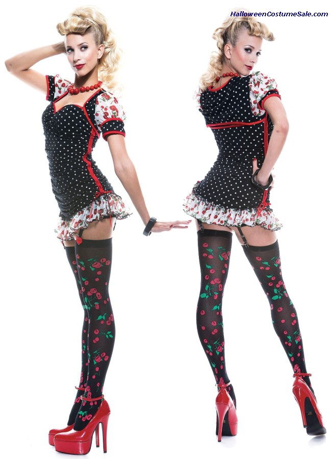 PINUP GIRL FRENCH KISS ADULT COSTUME - SUPER HOT!