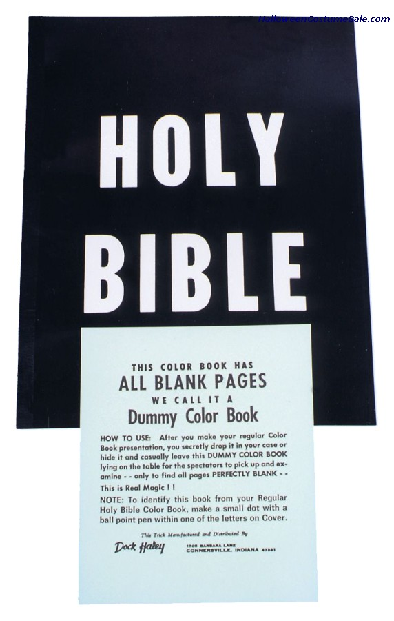 HOLY BIBLE COLOR BOOK, DUMMY