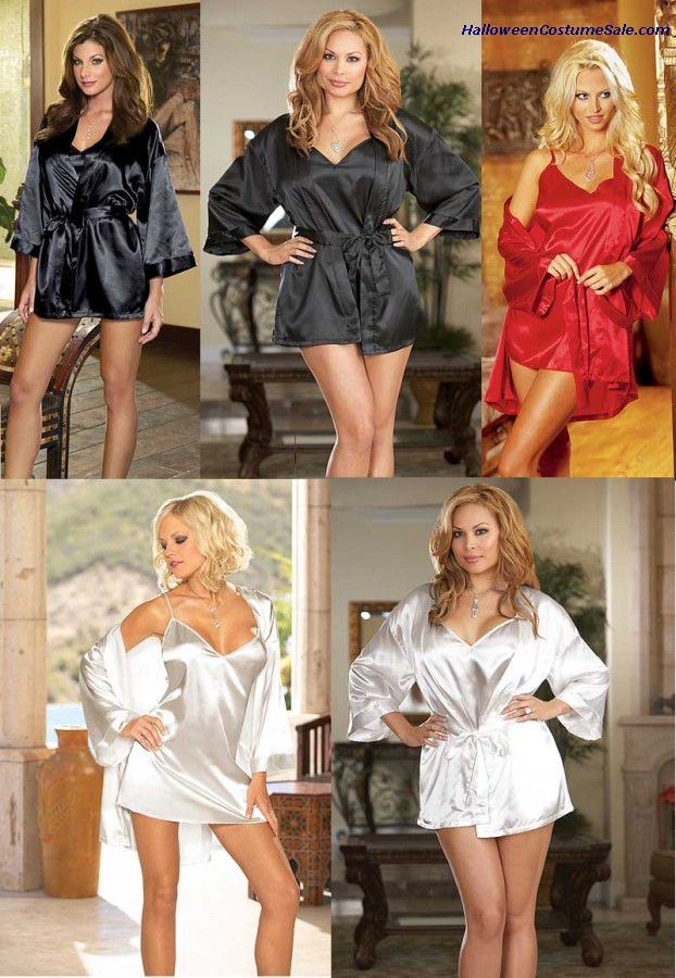 CHARMEUSE BABYDOLL & ROBE - ADULT COSTUME