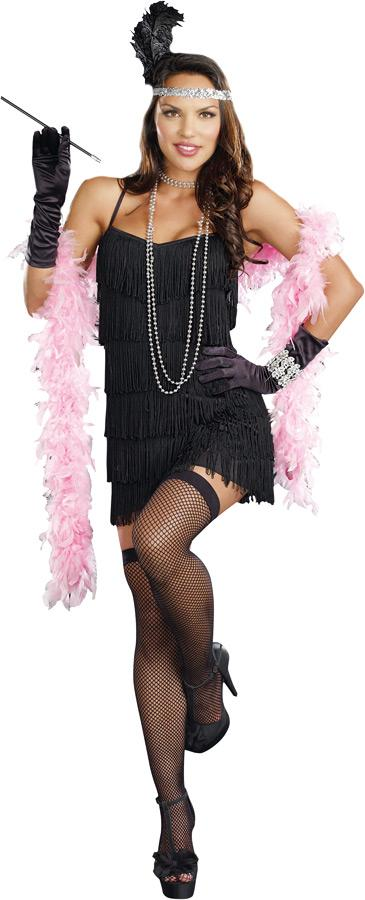 FLAPPER BASIC DRESS ADULT COSTUME