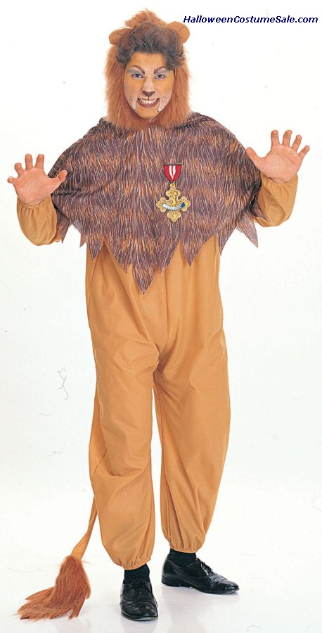WIZ OF OZ COWARDLY LION AD COSTUME