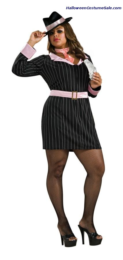 GUN MOLL PLUS SIZE ADULT COSTUME