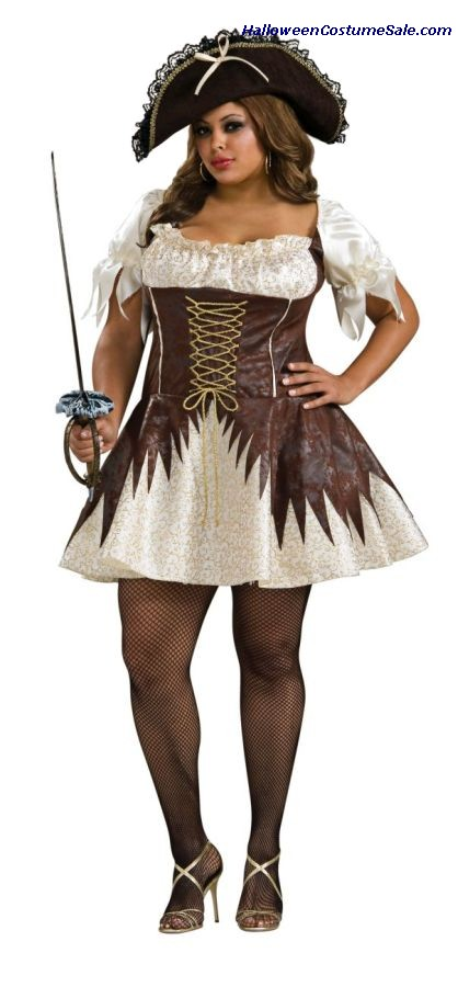 BUCCANEER PIRATE WOMANS QUEEN SIZE COSTUME