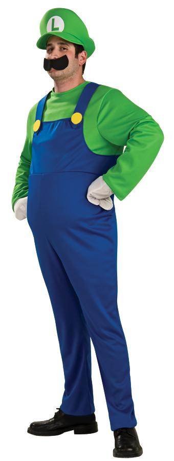 SUPER MARIO LUIGI DELUXE PLUS SIZE ADULT COSTUME