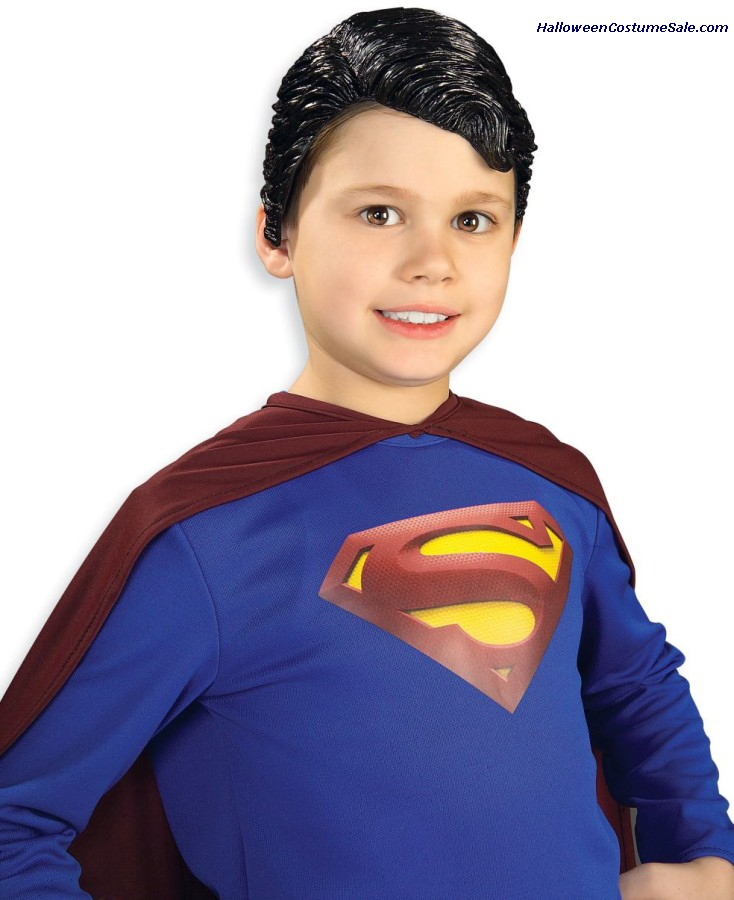 SUPERMAN CHILD VINYL WIG