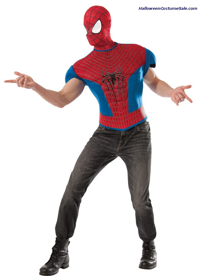 SPIDERMAN 2 TOP ADULT COSTUME