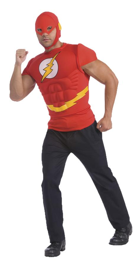 FLASH MUSCLE SHIRT ADULT COSTUME