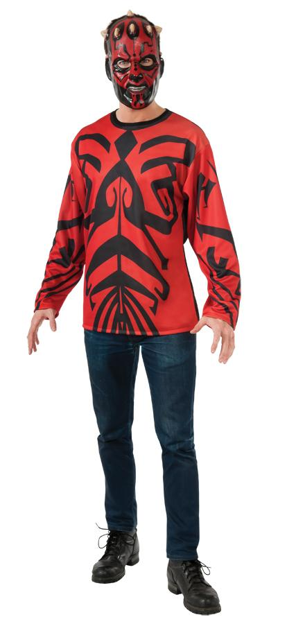 DARTH MAUL TOP MASK ADULT COSTUME