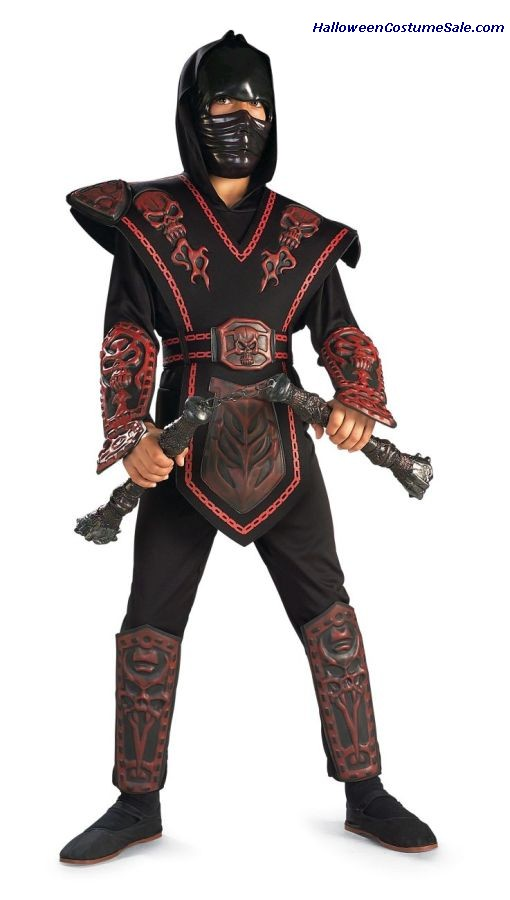 RED SKULL WARRIOR NINJA CHILD COSTUME